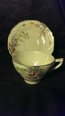 Crown Ducal Florentine Rosalie Cup and Saucer Set - 8 Available - Good Condition