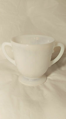 Macbeth Evans American Sweetheart Monax (WHITE) Open Sugar Bowl (s) - Handled