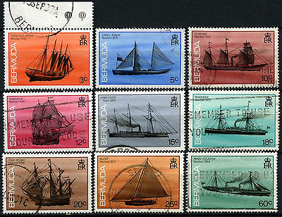 Bermuda 1986-92 Ships Definitives x 9 Used #D42441