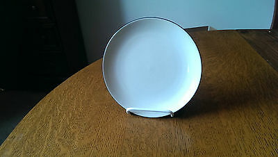 """Corning Corelle Royal White Round Hearthstone 7 1/2"""" Luncheon Plate 4 Available"""