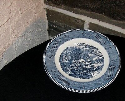 """Currier and Ives Dinner plates """" The old grist mill """" 10 inch"""
