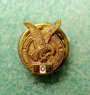 Vintage Fraternal Order of Eagles Lapel Hat Pin Tie Tack Tac Masonic Hallmarked