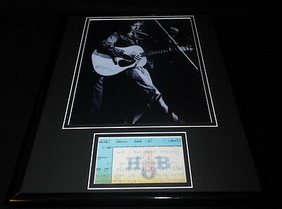 Bob Dylan Framed 11x14 House of Blues Repro Ticket & Photo Display