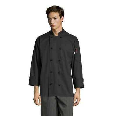 Chef Coat, 10 Knot , Black, XS to 3XL, 0403
