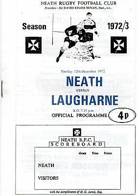 Dec 72 NEATH v LAUGHARNE Welsh Cup