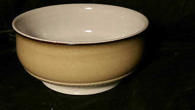 "Denby Seville 8 1/4"" Footed Round Open Vegetable Bowl - 3 7/8"" Tall"