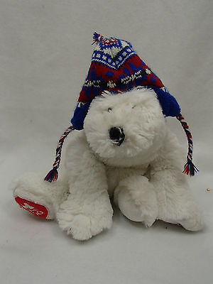 "Payton Polar Bear Stuffed Bean Plush Memphis Zoo Hat 11"" Wishpets"