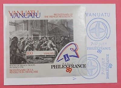 1989 Vanuatu Philexfrance Expo French Revolution Bicentenary S/s Cover