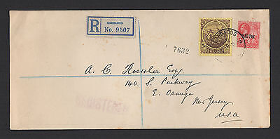 Barbados - Registered Legal Size Cover - 1917