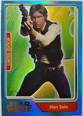Topps Journey to Star Wars The Force Awakens Limited Edition Card Han Solo MA