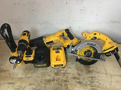 Bundle of 4 Cordless Dewalt Tools w/ Batteries and Chargers