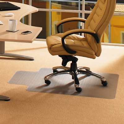 """Cleartex 36"""" x 48"""" Office Computer Desk Chair mat with Lip For Low Pile Carpets"""