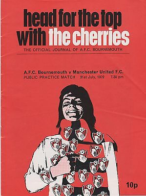 AFC BOURNEMOUTH v MANCHESTER UNITED PUBLIC PRACTICE MATCH 1972/73