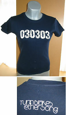 TURIN BRAKES Ether Song 030303 promo ladies blue T-Shirt [S] NEW/UNWORN