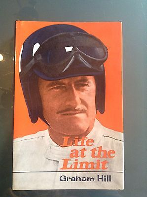 Rare Graham Hill Hand Signed Life At The Limit Book Formula 1 Ferrari Car