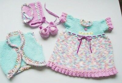 Hand Knitted Doll Clothes for Annabell, Reborn or 16/18ins Doll