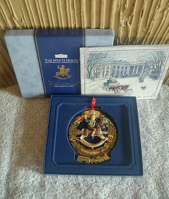 2003 White House Historical Association Christmas Ornament with Box