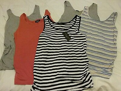 5 maternity newlook vest tops size 14