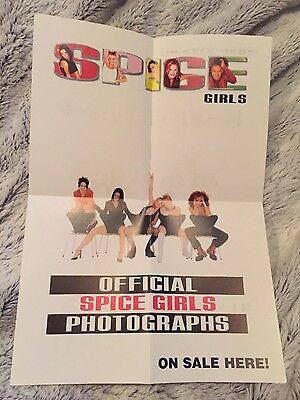Rare! Spice Girls official promo sale A4 poster