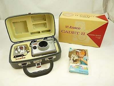Vintage ANSCO Cadet II Camera Outfit In Fitted Case & Original Box