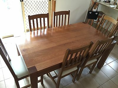 7 Piece Solid Timber Dining Setting