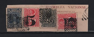 Chile 1900 Cover Cut Official Presidential National Assembly Columbus