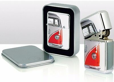 VW Volkswagen Camper Van Windproof Cigarette Lighters red)Gift Tin Case
