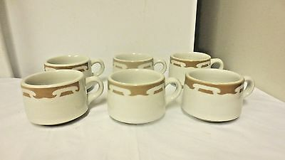 Lot 6 Shenango by Interpace  Restaurant Ware Cups or Mugs-Brown/tan Band