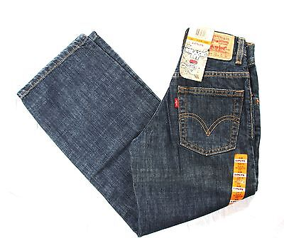LEVI'S 550 Relaxed Fit Jeans Boys Kids Size 10 Slim 23 X 25 New With Tags