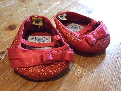 Build A Bear Workshop Wizard Oz Costume Dorothy RED SHOES Glitter