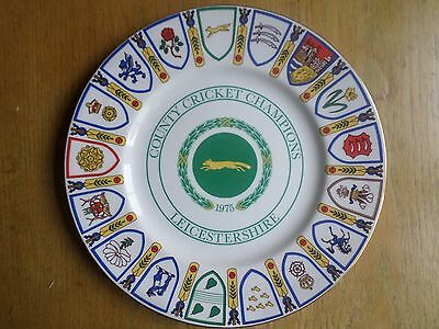 Leicestershire County Cricket Champions 1975 commemorative plate