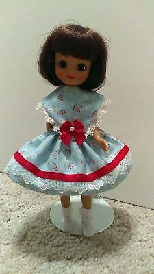 """Handmade For 8"""" Tiny Betsy McCall Doll Dress-Blue & Lace"""