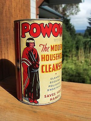 Vintage  POWOW Household Cleanser 9 oz  unopened