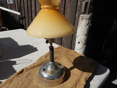 Antique Coleman Table Lamp Butterscotch Shade Quick-Lite  Untested!