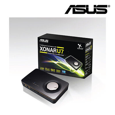 NEW  Asus Xonar_U7 Compact 7.1 Channel Usb Sound Card And Headphone Amplifier
