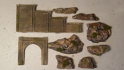 # N Gauge Double Track Tunnel Entrance With Stepped Side Wall