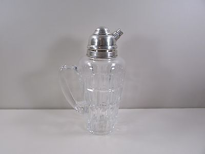Hawkes Sterling Silver Lid Heavy Glass Decanter Bottle