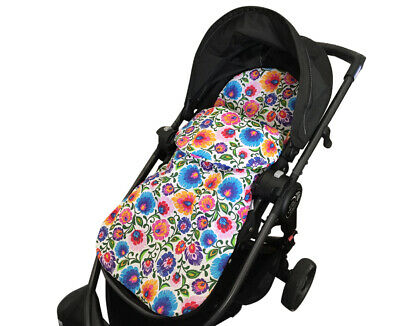 2in1 PRAM SEAT LINER FOOT MUFF Cotton Nautical All Year Best GOOSEBERRY
