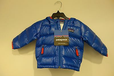 $129 NWT Patagonia Baby Infant Hi-loft Down Hoody Jacket Size 6 months Blue