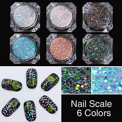 1 Box BORN PRETTY Chameleon Nail Art Glitter Sequins  Scale Paillette 2g