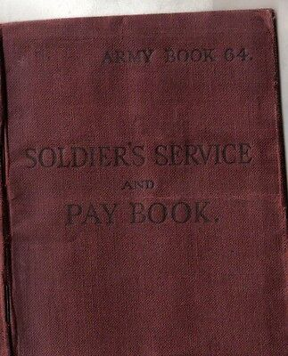 SOLDIERS WW2 PAY BOOK BRITISH MANDATE PALESTINE MEDICAL Harold Copeland Will
