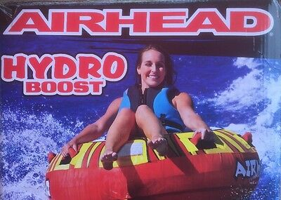 """Airhead Hydro Boost Inflatable 54"""" Water Tube - 1 Rider - Round Towable - NIB"""