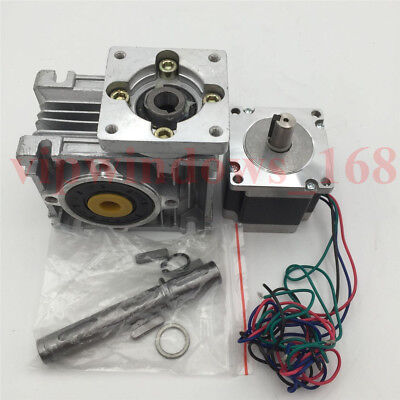 7.5:1 Worm Gearbox Nema23 Geared Stepper Motor 8.25Nm L56mm Speed Reducer CNC