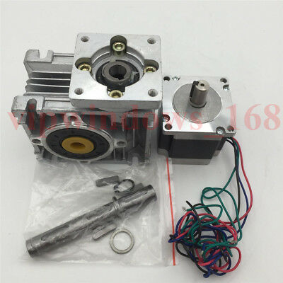 Nema23 Worm Gear Stepper Motor Ratio 7.5:1 3A L56mm Gearbox Speed Reducer CNC