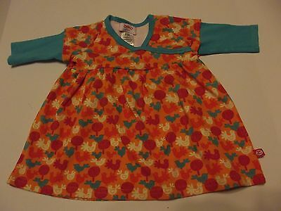 zutano baby dress girl size 0-6 months 100% cotton long sleeve