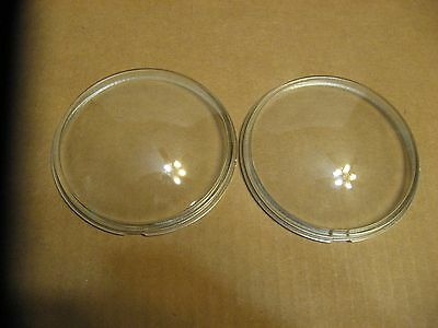 Pair New Old Stock Antique Motorcycle Clear SPOT or FOG Light GLASS LENS 1 SET