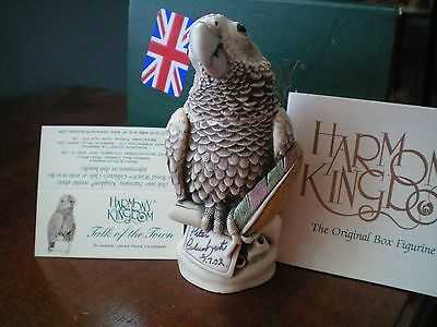 Harmony Kingdom Talk of the Town African Grey Parrot Event Piece SGN