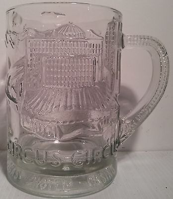 Vintage Clear Glass 3-D Highly Detailed Circus Circus Las Vegas Mug - PRISTINE!