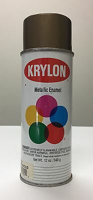 Vintage Krylon Spray Paint Can Bright Gold 1701