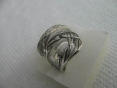 Sterling Silver spoon Ring s 8 3/4 CARNATION #4090 Floral